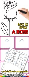 How to Draw a Rose Easy Step by Step For Beginners and Kids Easy Peasy and Fun
