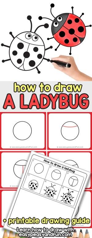 ladybug draw drawing easy step drawings learn fun steps peasy tutorial easypeasyandfun simple bugs printable tutorials bug lady craft paintingvalley