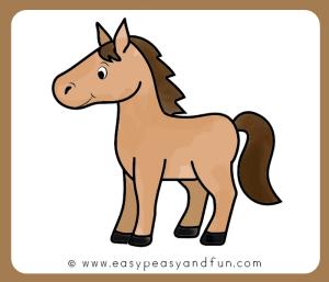 horse easy drawing step kuda draw cartoon drawings gambar clipart tutorial sketches menggambar cara colour cartooning yang fun kartun easypeasyandfun