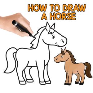 horse draw drawing step tutorial easy fun cartooning need