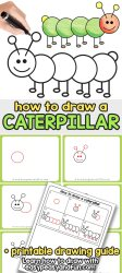How to Draw a Caterpillar Step by Step Guide for Kids and Beginners Easy Peasy and Fun