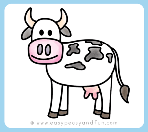 cow drawing draw sketch step directed easy drawings sketches paintingvalley peasy fun beginners instructions printables