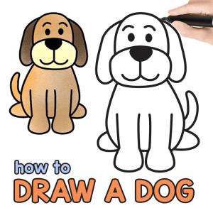 dog drawing draw directed step tutorial easy cartoon fun need