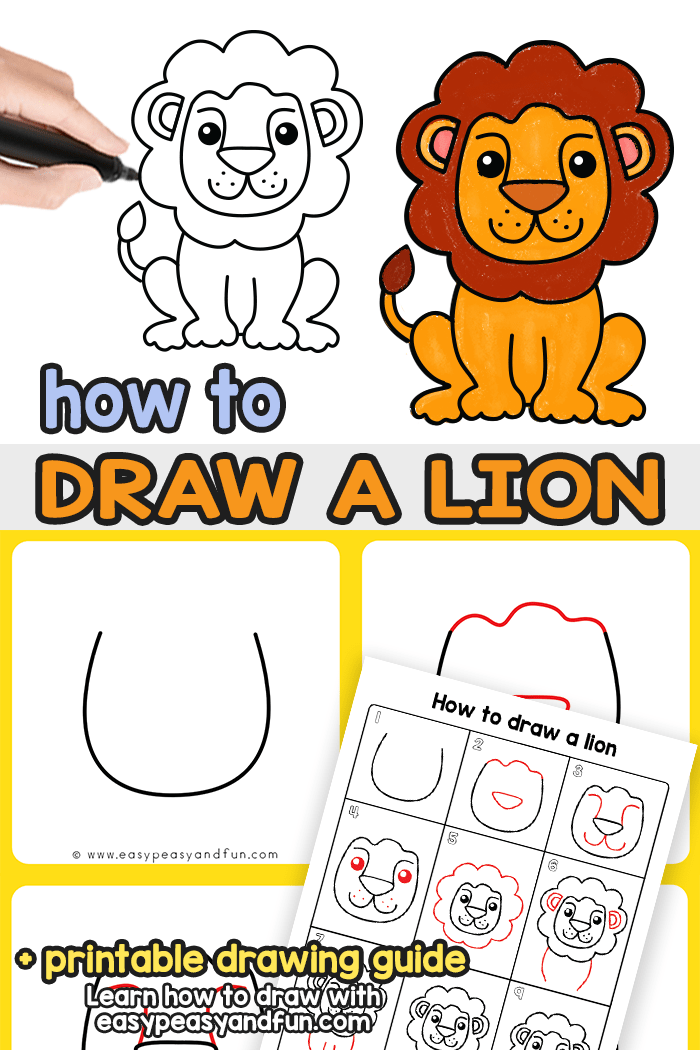 How To Draw A Lioness : lioness, Drawing, Guide, Peasy