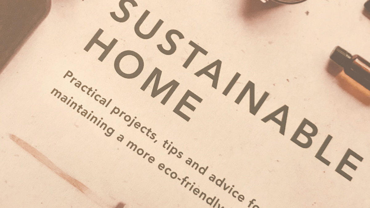 Sustainable home book cover