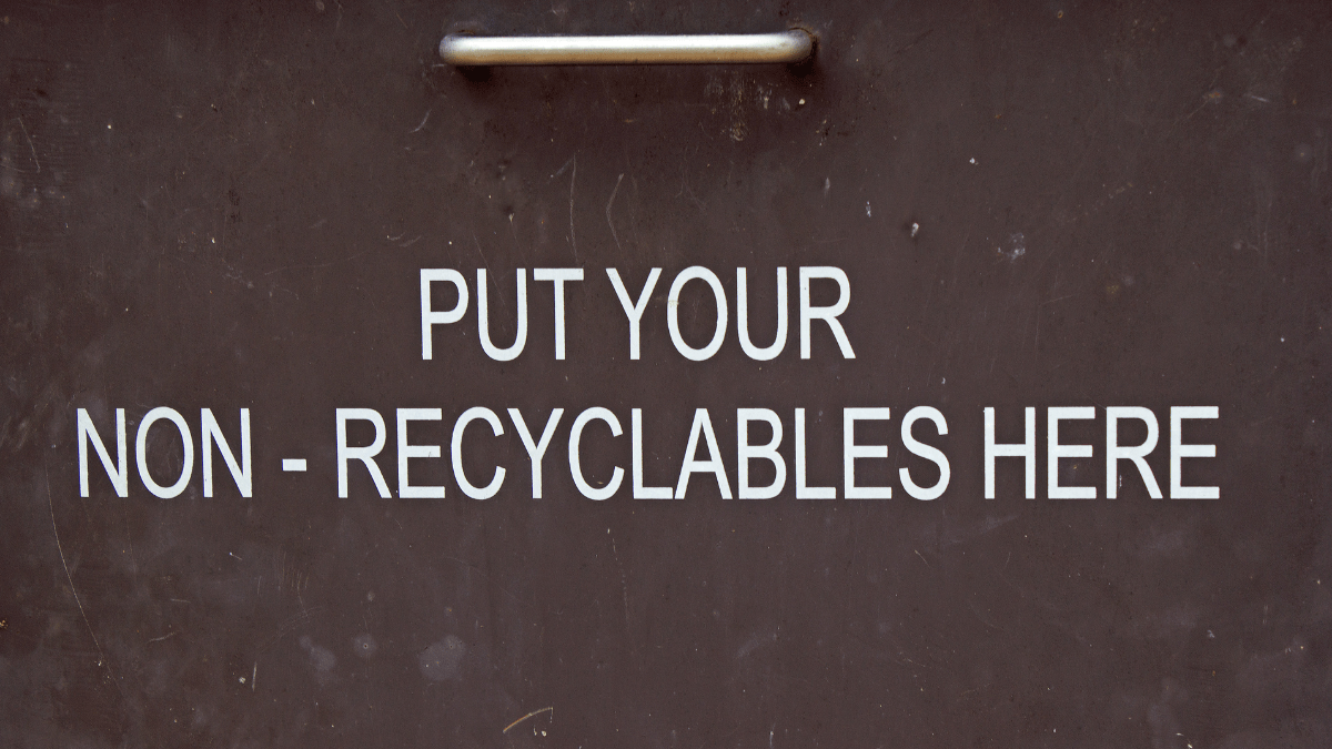 Put your non-recycleable here image - TerraCycle - recycling