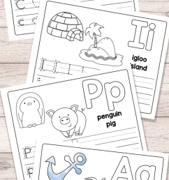 Free Printable Alphabet Book - Alphabet Worksheets for Pre-K and K - Easy  Peasy Learners [ 1400 x 700 Pixel ]