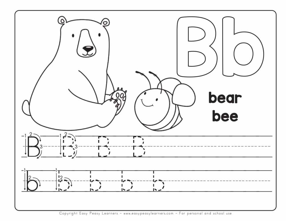 medium resolution of Free Printable Alphabet Book - Alphabet Worksheets for Pre-K and K - Easy  Peasy Learners