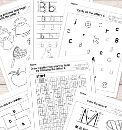 Alphabet Worksheets - ABC from A to Z - Easy Peasy Learners [ 1400 x 700 Pixel ]