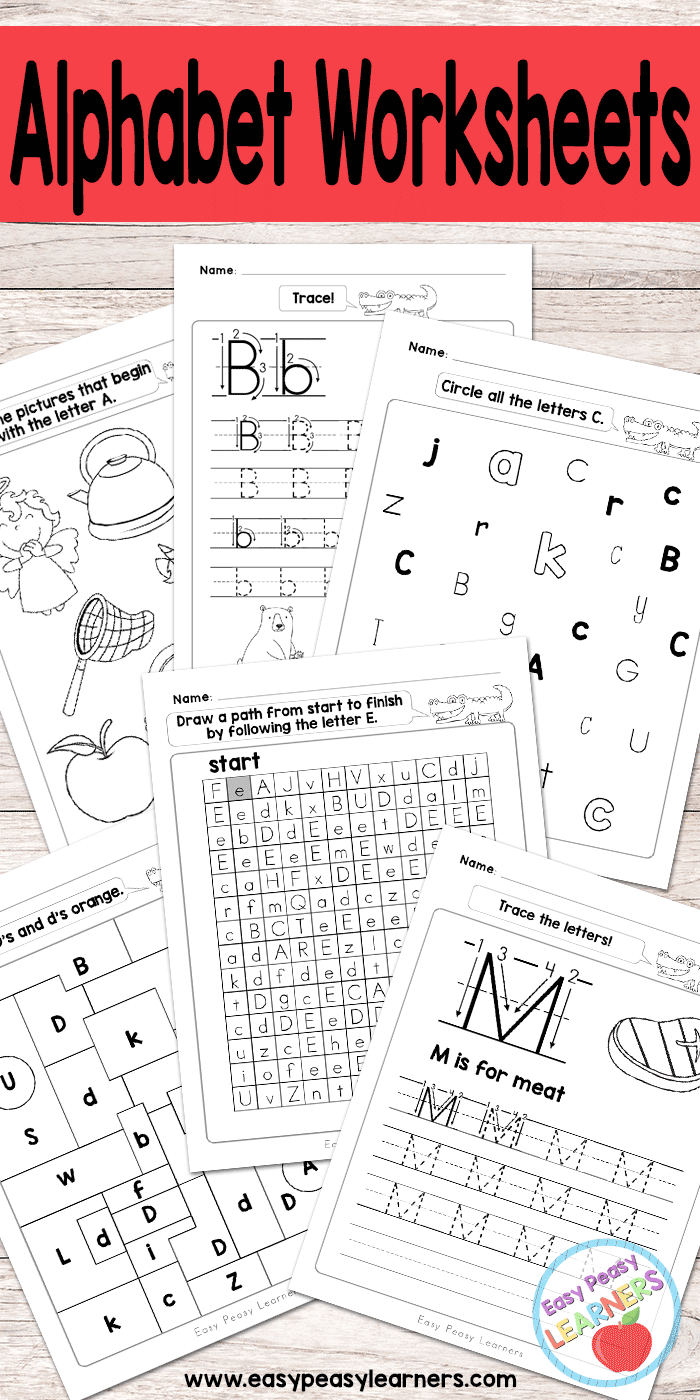 hight resolution of Alphabet Worksheets - ABC from A to Z - Easy Peasy Learners