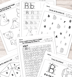 Letter B Worksheets - Alphabet Series - Easy Peasy Learners [ 1400 x 700 Pixel ]