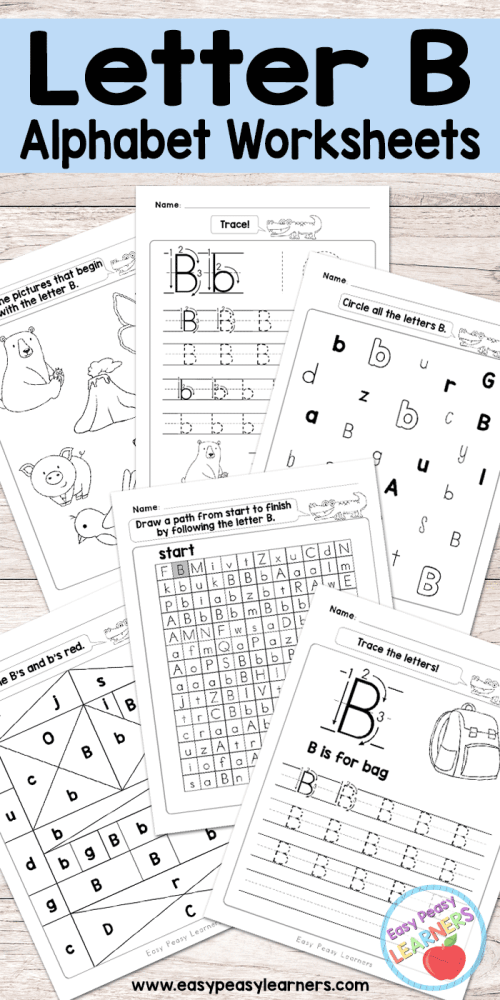 small resolution of Letter B Worksheets - Alphabet Series - Easy Peasy Learners