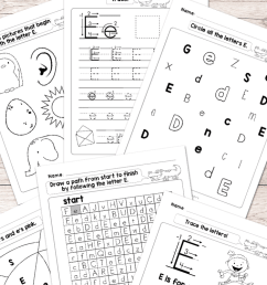 Letter E Worksheets - Alphabet Series - Easy Peasy Learners [ 1400 x 700 Pixel ]