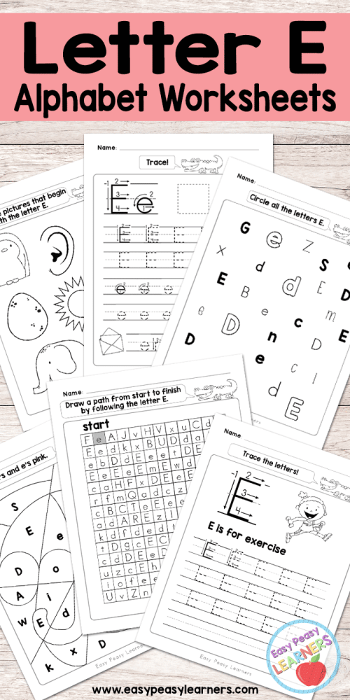 small resolution of Letter E Worksheets - Alphabet Series - Easy Peasy Learners