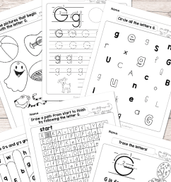 Letter G Worksheets - Alphabet Series - Easy Peasy Learners [ 1400 x 700 Pixel ]