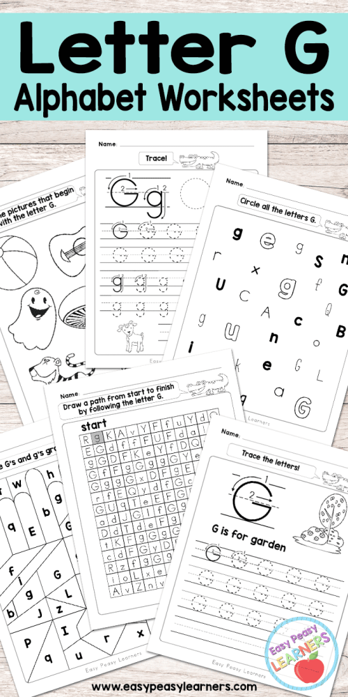 small resolution of Letter G Worksheets - Alphabet Series - Easy Peasy Learners
