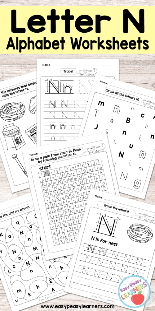 small resolution of Letter N Worksheets - Alphabet Series - Easy Peasy Learners