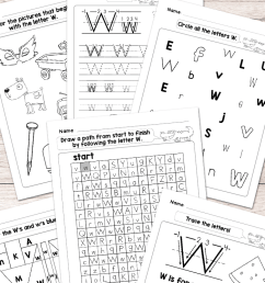 Letter W Worksheets - Alphabet Series - Easy Peasy Learners [ 1400 x 700 Pixel ]