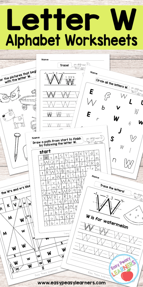 small resolution of Letter W Worksheets - Alphabet Series - Easy Peasy Learners