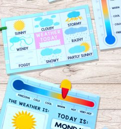 Printable Weather Charts - Easy Peasy Learners [ 1400 x 700 Pixel ]