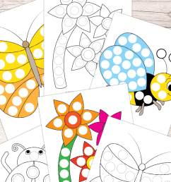 Spring Do a Dot Printables - Easy Peasy Learners [ 1400 x 700 Pixel ]