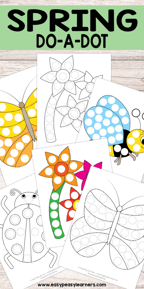 small resolution of Spring Do a Dot Printables - Easy Peasy Learners