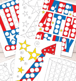 Free 4th of July Do a Dot Printables - Easy Peasy Learners [ 1400 x 700 Pixel ]