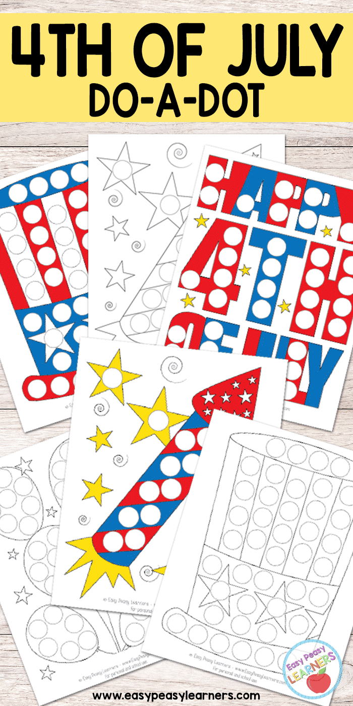 medium resolution of Free 4th of July Do a Dot Printables - Easy Peasy Learners