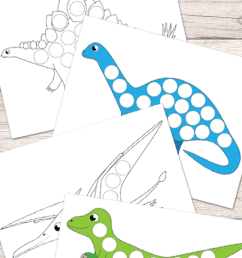 Free Dinosaurs Do a Dot Printables - Easy Peasy Learners [ 1400 x 700 Pixel ]