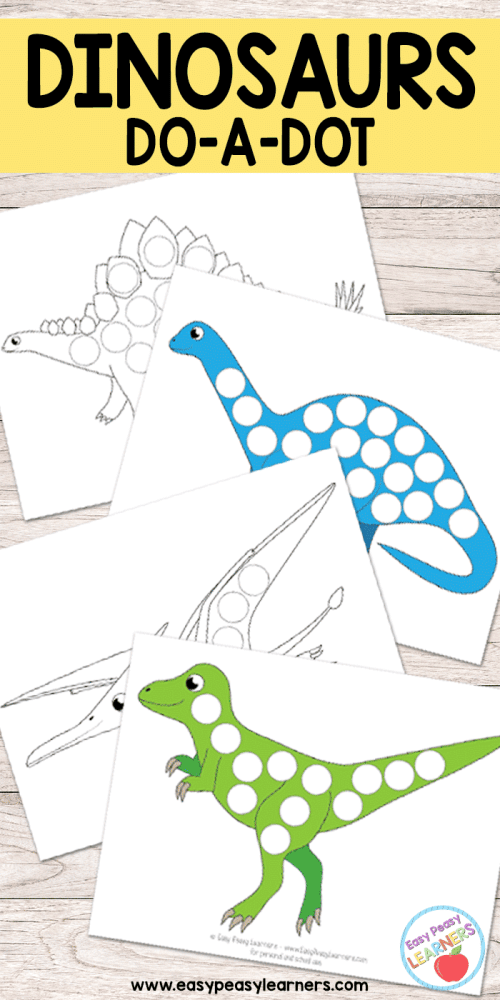 small resolution of Free Dinosaurs Do a Dot Printables - Easy Peasy Learners