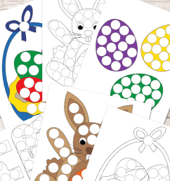Free Easter Do a Dot Printables - Easy Peasy Learners [ 1400 x 700 Pixel ]