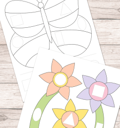 Free Spring Cut and Glue Worksheets - Easy Peasy Learners [ 1400 x 700 Pixel ]