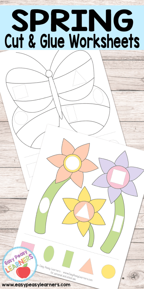 small resolution of Free Spring Cut and Glue Worksheets - Easy Peasy Learners