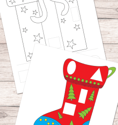 Free Christmas Cut and Glue Worksheets - Easy Peasy Learners [ 1400 x 700 Pixel ]