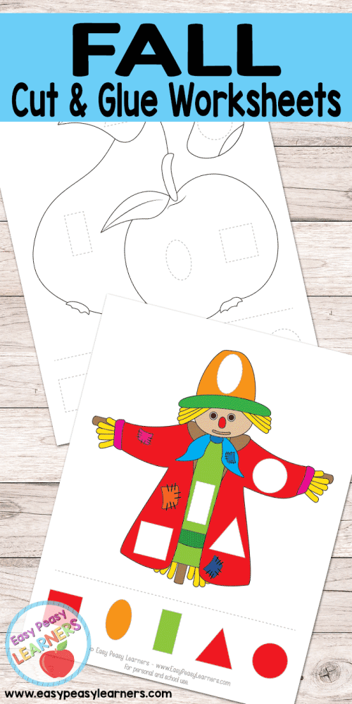 small resolution of Free Fall Cut and Glue Worksheets - Easy Peasy Learners