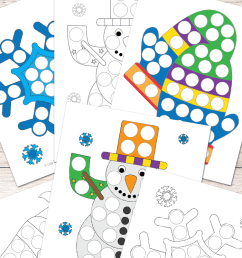 Free Winter Do a Dot Printables - Easy Peasy Learners [ 1400 x 700 Pixel ]