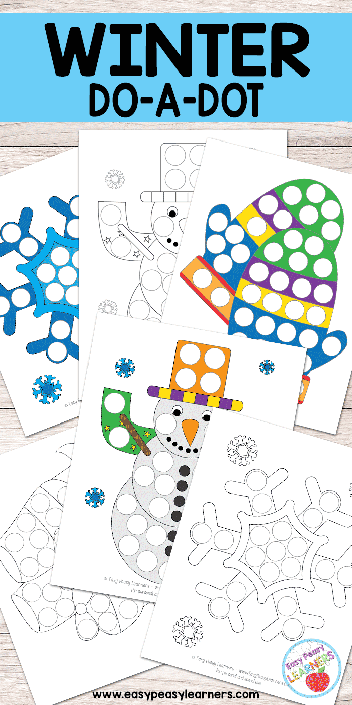 hight resolution of Free Winter Do a Dot Printables - Easy Peasy Learners