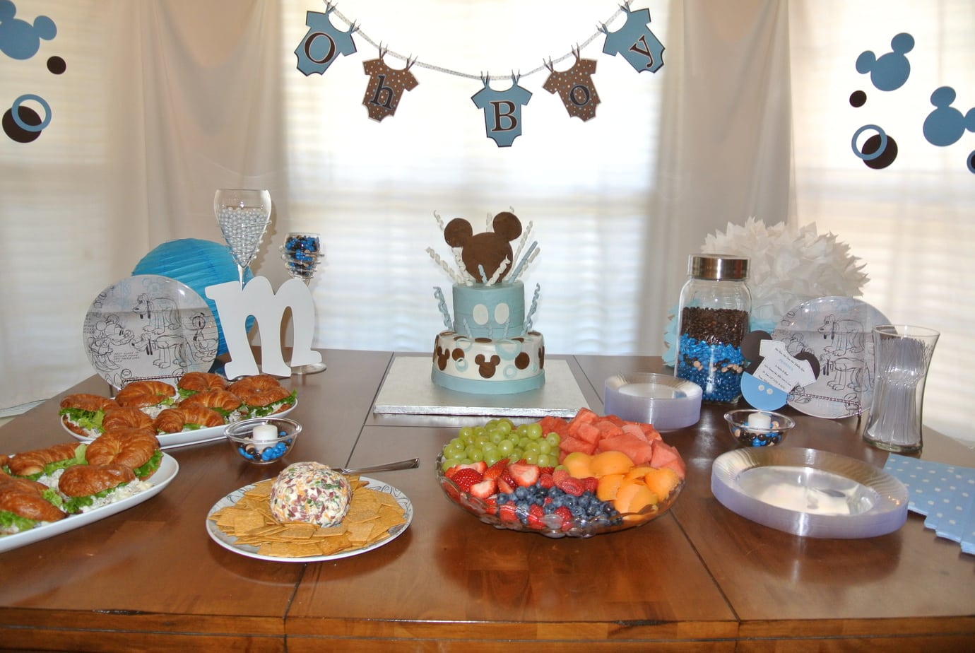 Baby Food Chair Mickey Mouse Inspired Baby Shower Easy Peasy Pleasy