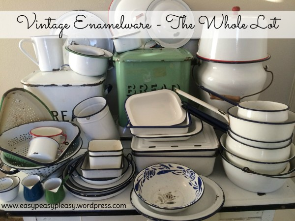 Enamelware Obsession - Easy Peasy Pleasy