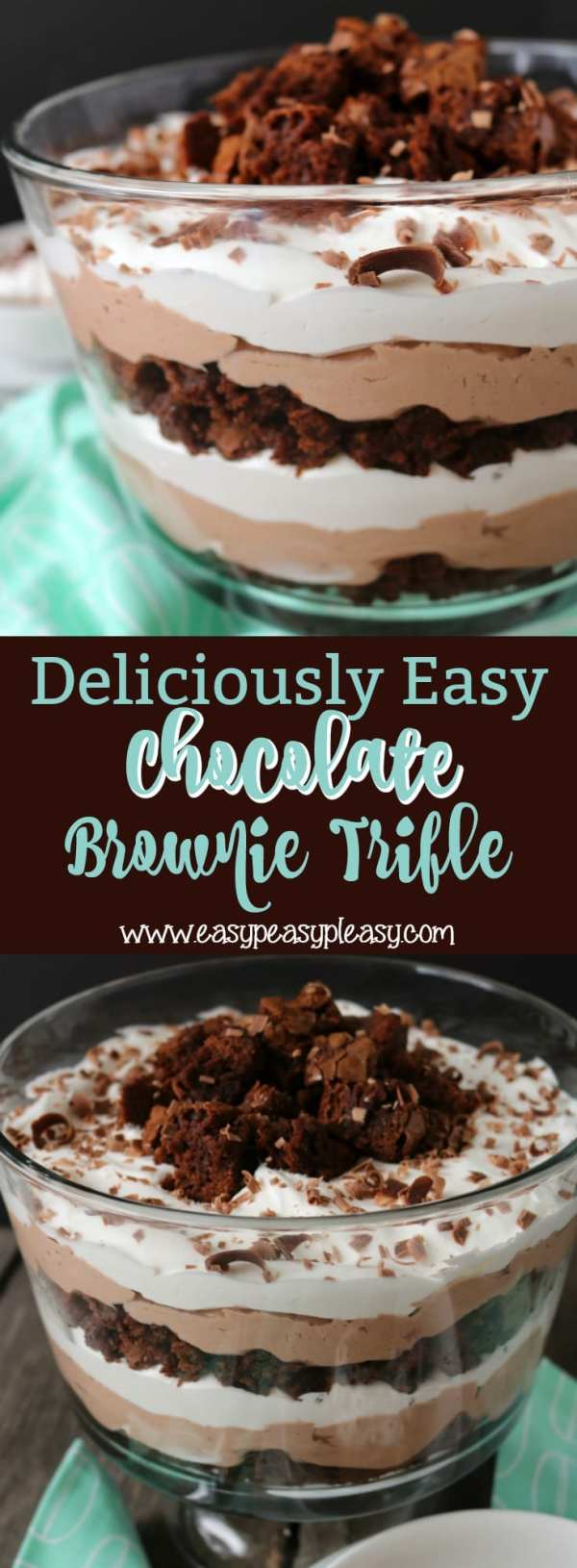 Deliciously Easy Chocolate Brownie Trifle Easy Peasy Pleasy