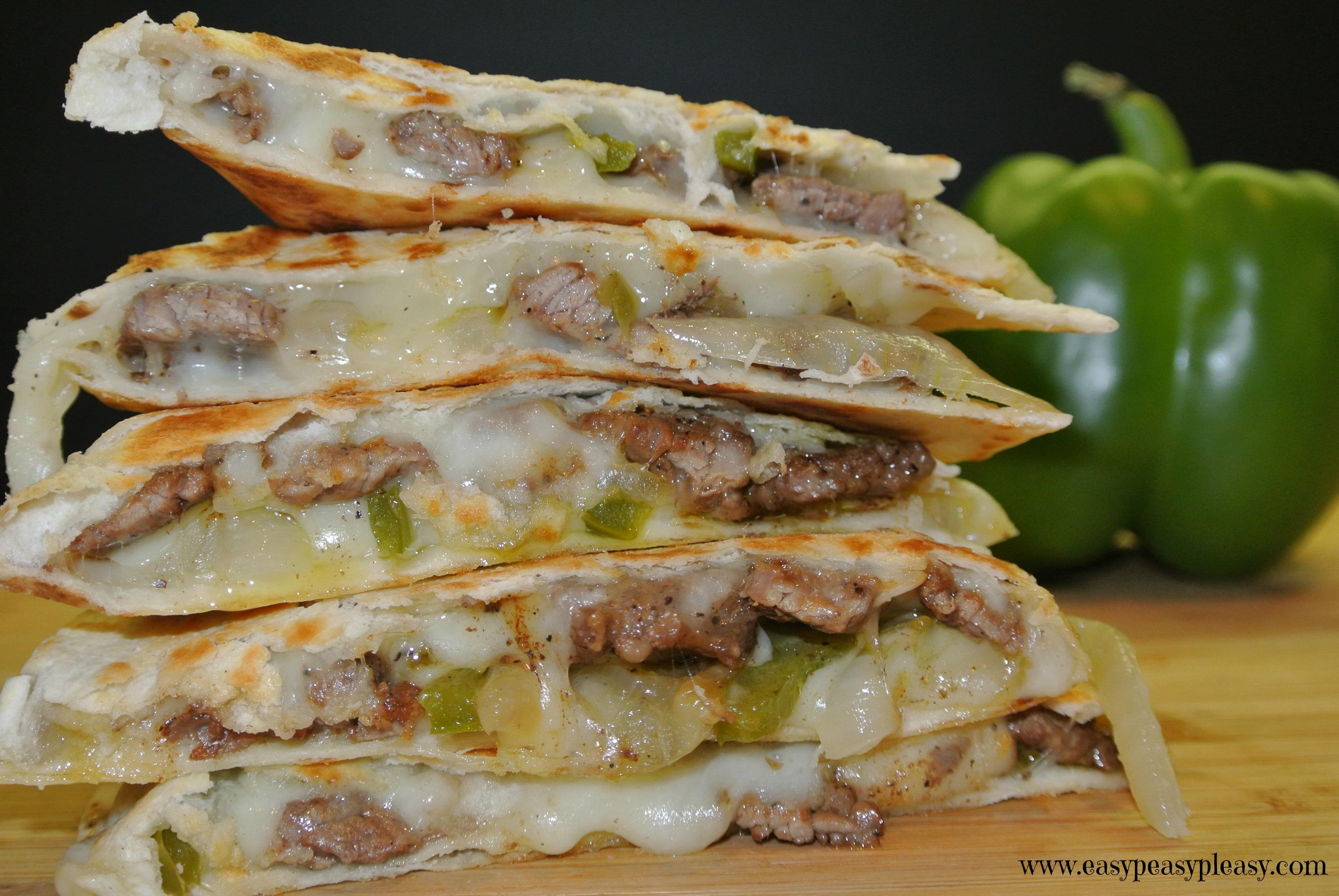 Cheese Steak Quesadillas  Easy Peasy Pleasy