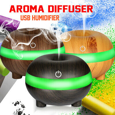 LED Ultrasonic Humidifier Air Purifier Aroma Aromatherapy Essential Oil Diffuser