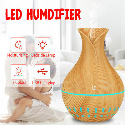 USB LED Aroma Ultrasonic Humidifier Aromatherapy Essential Oil Air Diffuser Gift