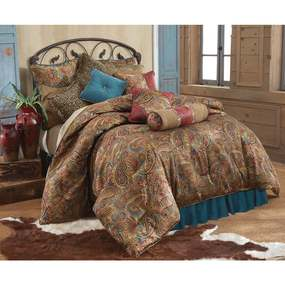 HiEnd Accents San Angelo Comforter Set - Blue - Twin - 3 Piece