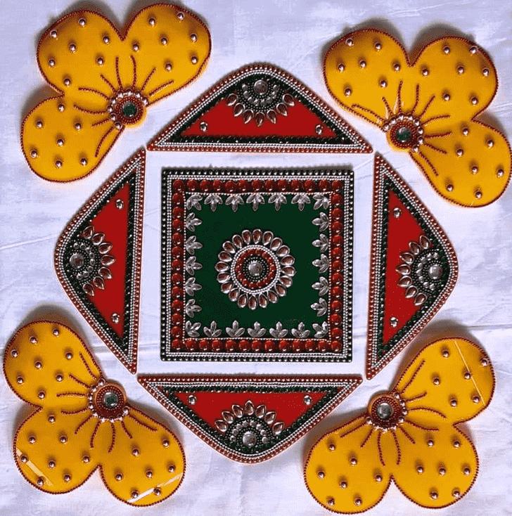 Beauteous Acrylic Rangoli