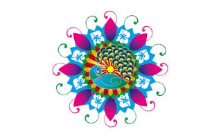 Adorable Rangoli Design