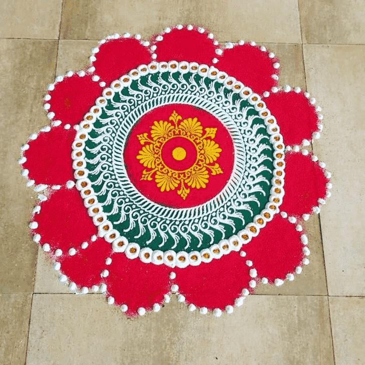 Mesmeric Akshaya Tritiya Rangoli