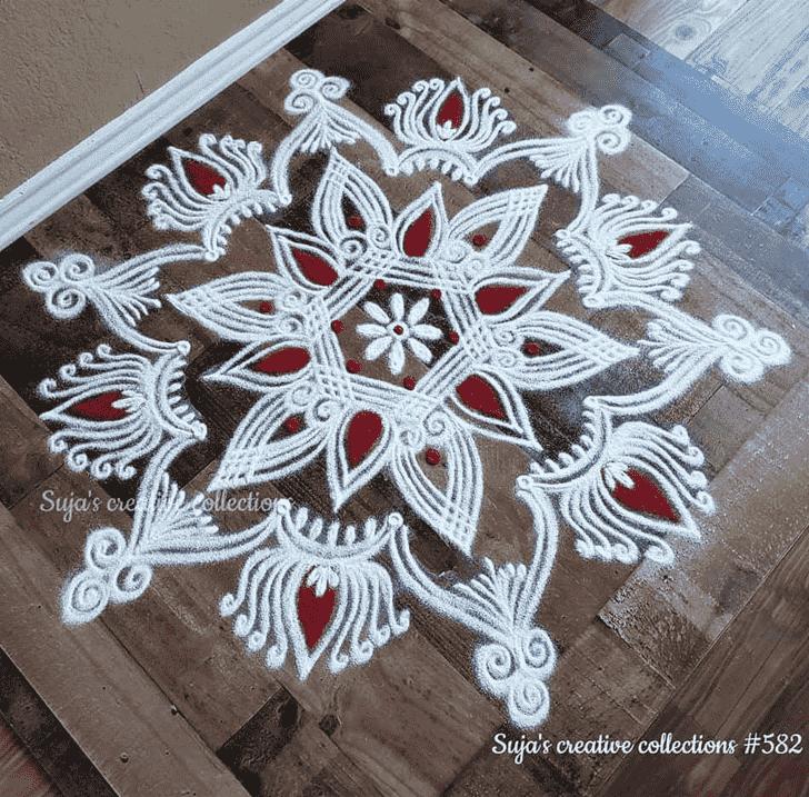 Pleasing Akshaya Tritiya Rangoli