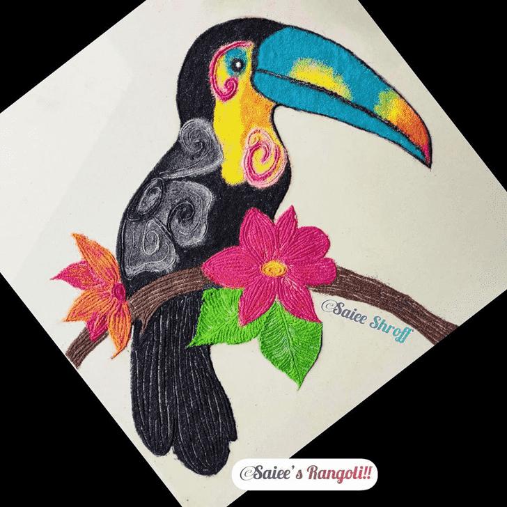 Amazing Bird Rangoli