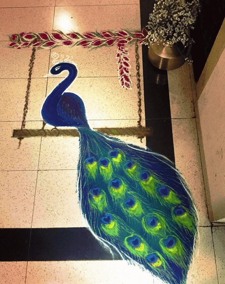 Charming Bird Rangoli